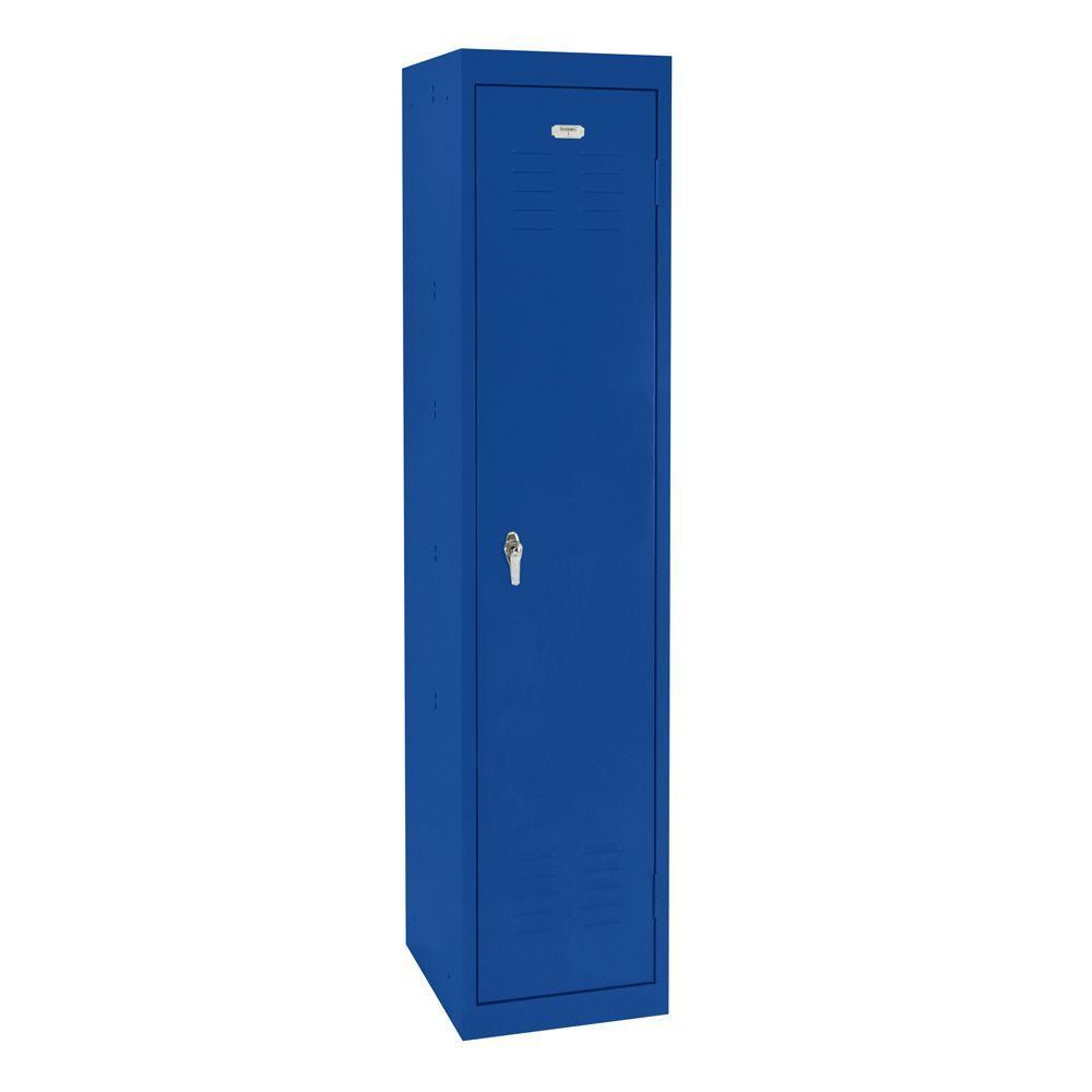 Sandusky 15 in. L x 18 in. D x 66 in. H Single Tier Welded Steel Storage Locker in Ocean