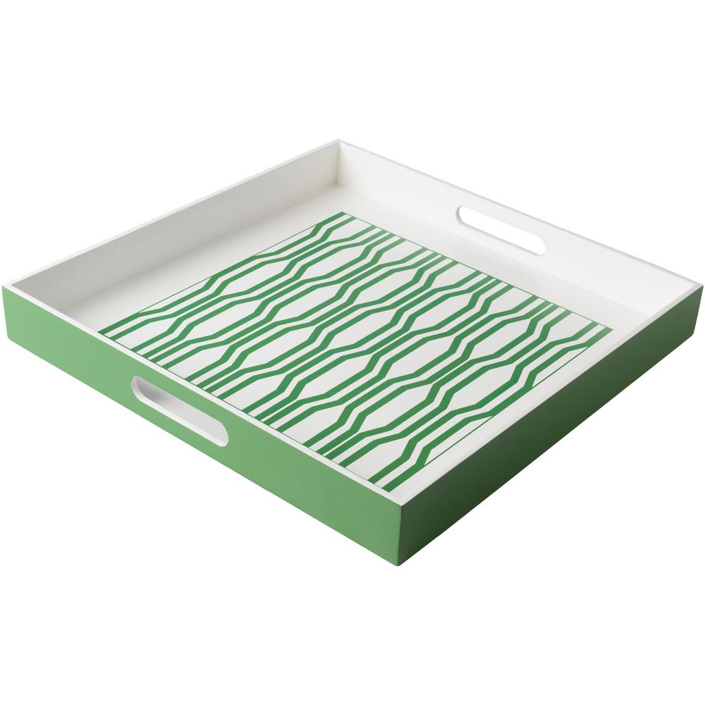 Rocry Grass Green 15.7 in. Decorative Tray