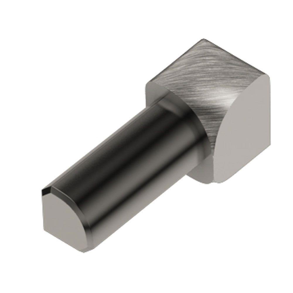 Schluter Rondec Brushed Nickel Anodized Aluminum 1/2 in. x 1 in. Metal 90 Degree Inside Corner
