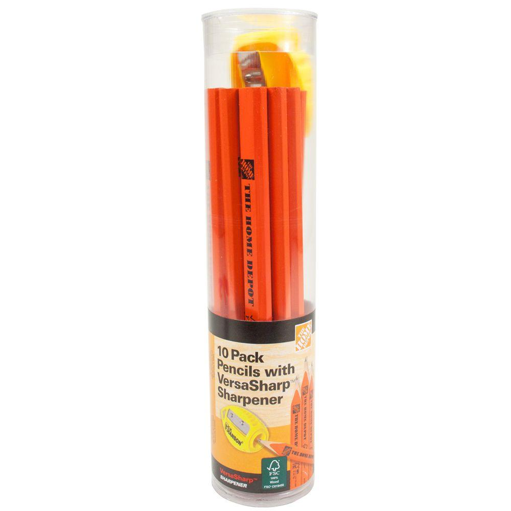 The Home Depot Carpenter Pencils (10-Pack) with Sharpener