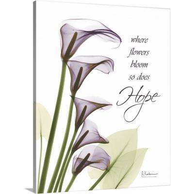 """Calla Lilies Hope x-ray photography"" by  Albert Koetsier Canvas Wall Art"