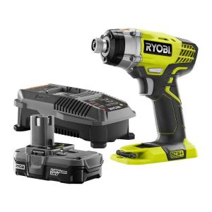 ryobi 18 volt one 1 4 in impact driver kit p1891 the home depot. Black Bedroom Furniture Sets. Home Design Ideas