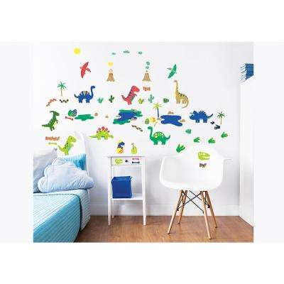 Green Dinosaur Wall Stickers