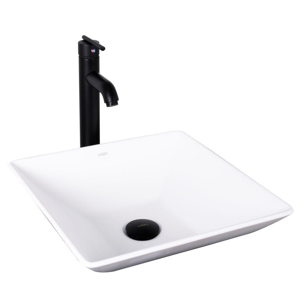 Vigo Hibiscus Matte Stone Vessel Sink And Seville Bathroom