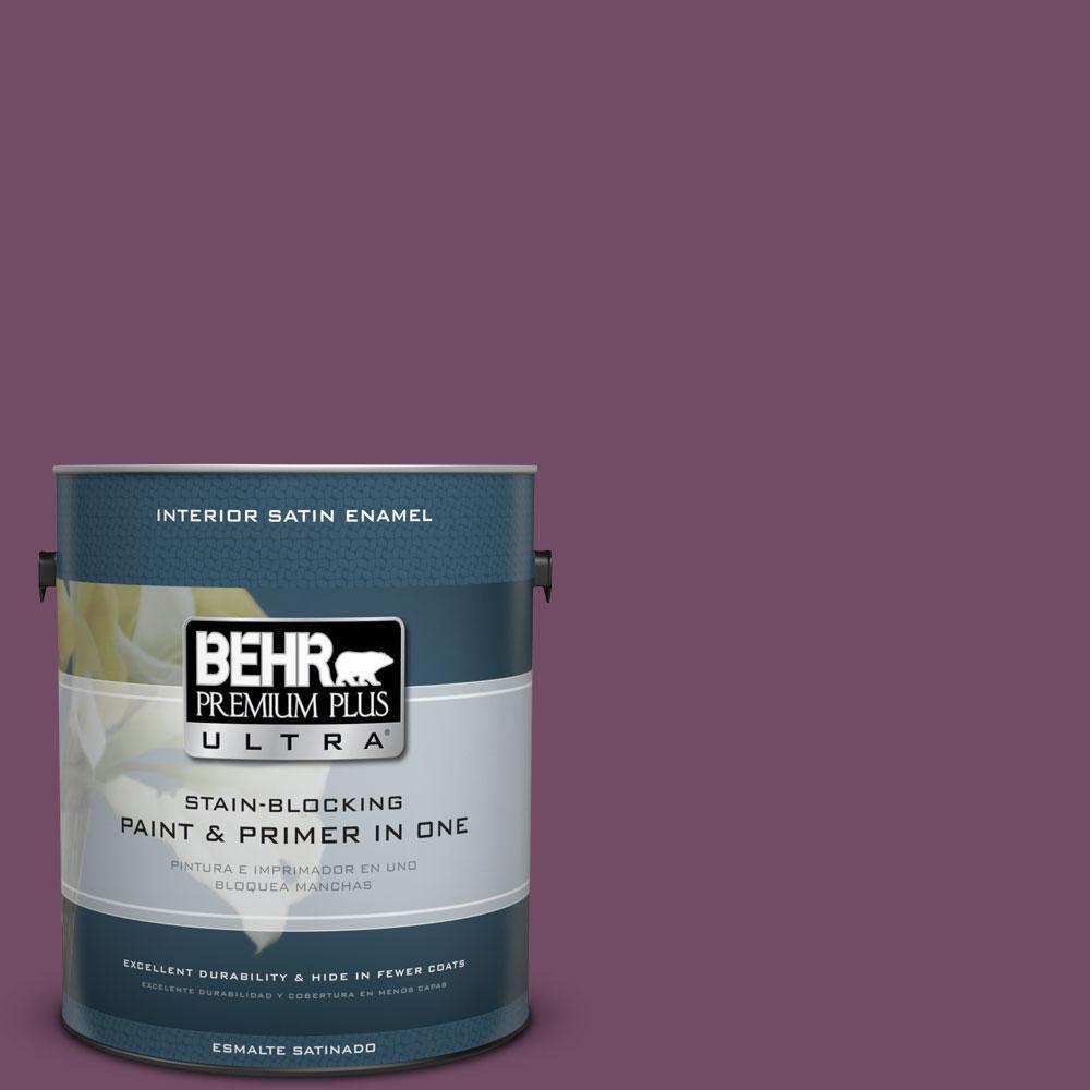 BEHR Premium Plus Ultra 1-gal. #690D-7 Radicchio Satin Enamel Interior Paint