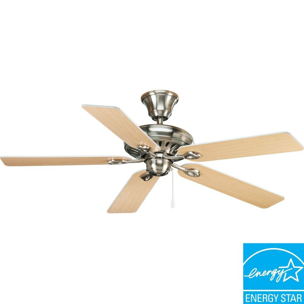 Progress lighting airpro signature 52 in indoor brushed nickel progress lighting airpro signature 52 in indoor brushed nickel modern ceiling fan p2521 09ch the home depot aloadofball Choice Image