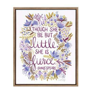 "Sylvie ""Little Fierce"" by Cat Coquillette Framed Canvas Wall Art"
