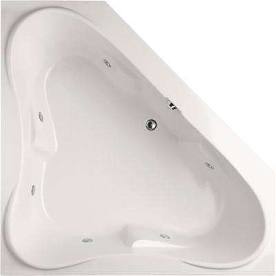 Montgomery 60 in. Acrylic Corner Drop-In Air Bath Bathtub in White