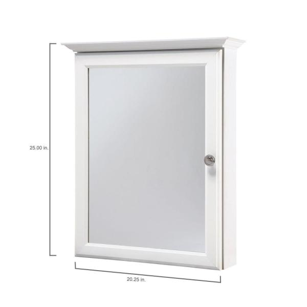 Glacier Bay 20 1 4 In W X 25 In H Framed Surface Mount Bathroom Medicine Cabinet In White S1825 Wh The Home Depot