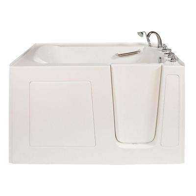 Long 5 ft. x 32 in. Walk-In Air Bath Tub in White with Right Drain/Door