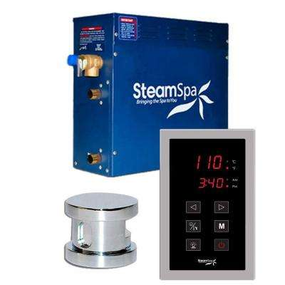 Oasis 9kW Touch Pad Steam Bath Generator Package in Chrome