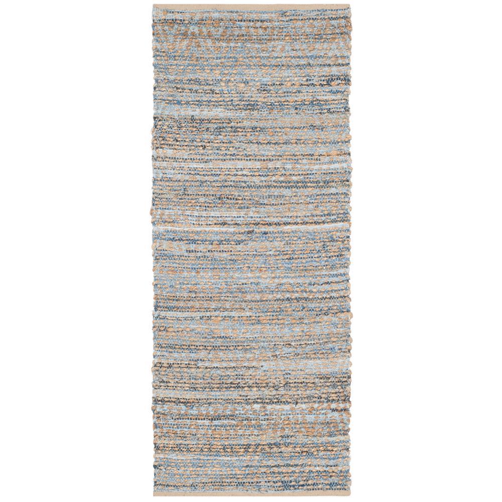 Safavieh Cape Cod Natural/Blue 2 ft. 3 in. x 10 ft. Runner
