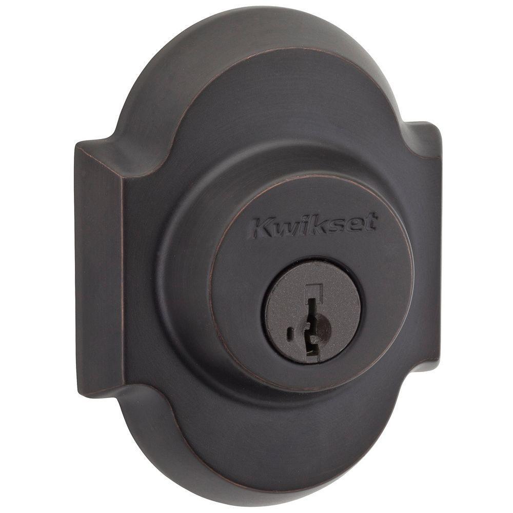 Kwikset Austin Venetian Bronze Single Cylinder Deadbolt Featuring SmartKey Security