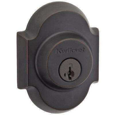 Austin Single Cylinder Venetian Bronze Deadbolt featuring SmartKey