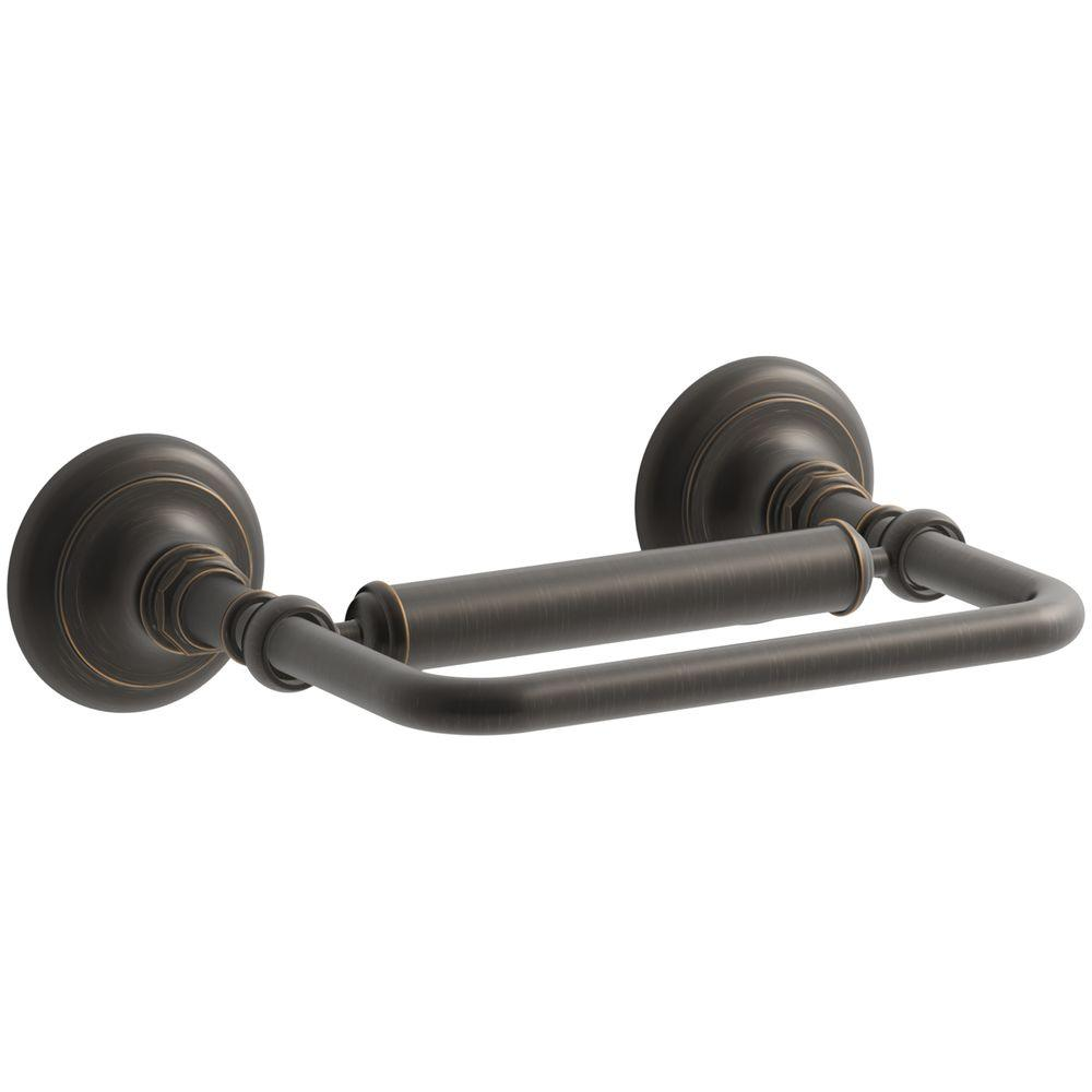 KOHLER Artifacts Pivoting Double Post Toilet Paper Holder in Oil Rubbed Bronze