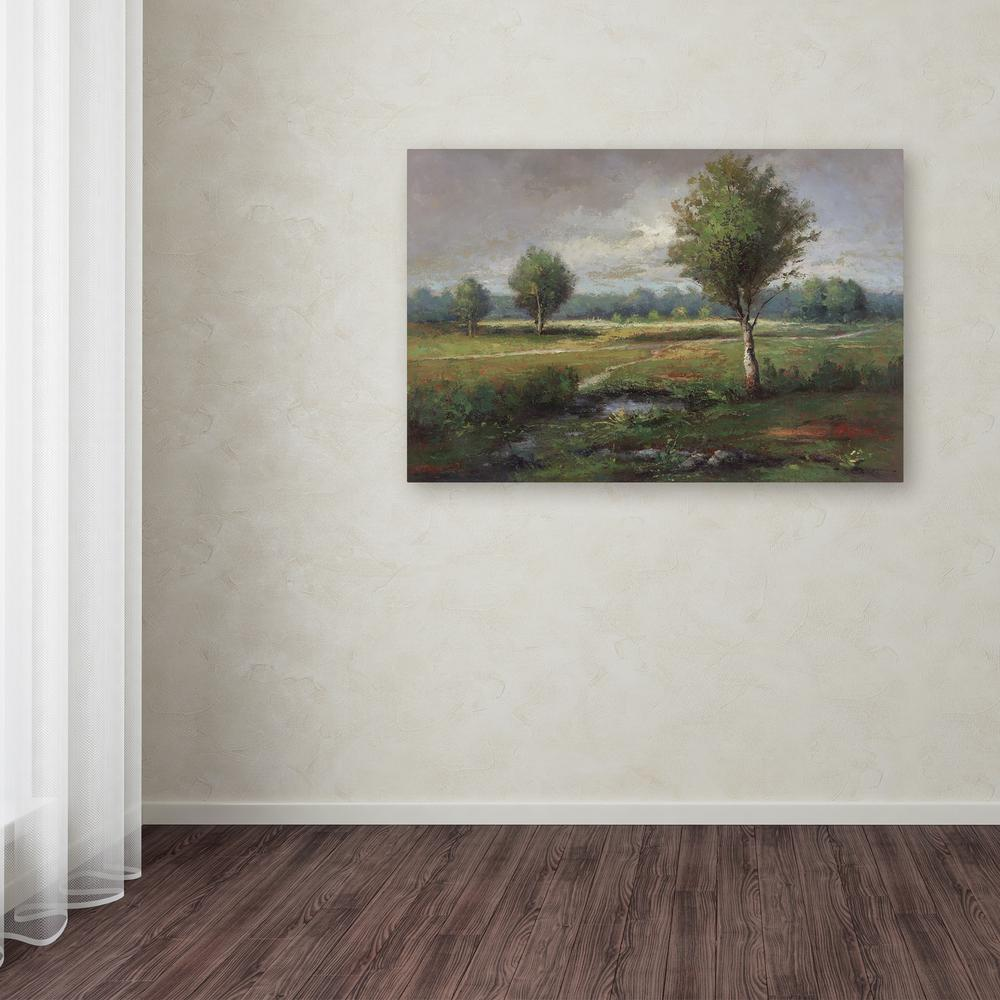 """22 in. x 32 in. """"Lonely Tree"""" by Daniel Moises Printed"""