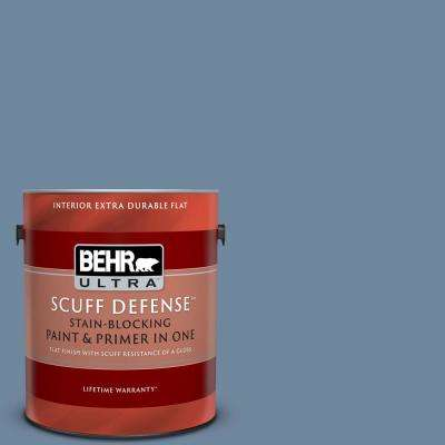 1 gal. #S520-5 Thundercloud Extra Durable Flat Interior Paint and Primer in One