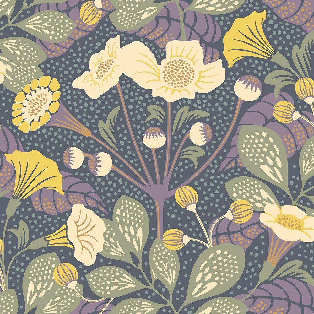 8 In X 10 In Tropisk Multicolor Floral Wallpaper Sample