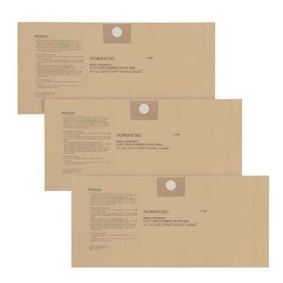 4 Gal. to 5 Gal. High Efficiency Filter Bags for Stanley 25-1230 (3-Pack)