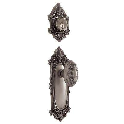 Single Cylinder Antique Pewter Deadbolt