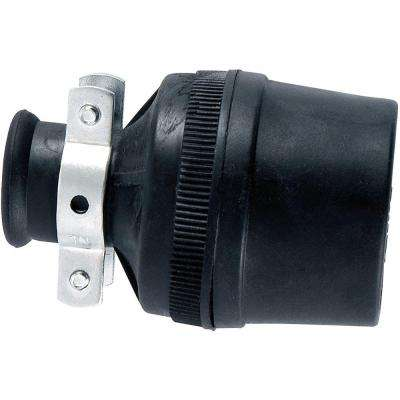 Heavy Duty Grounded with Metal Clamp Connector - Black