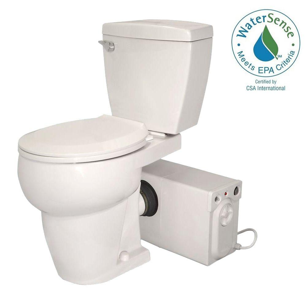 Thetford Bathroom Anywhere 2 Piece Gpf Single Flush Round Toilet With Seat Macerating Pump