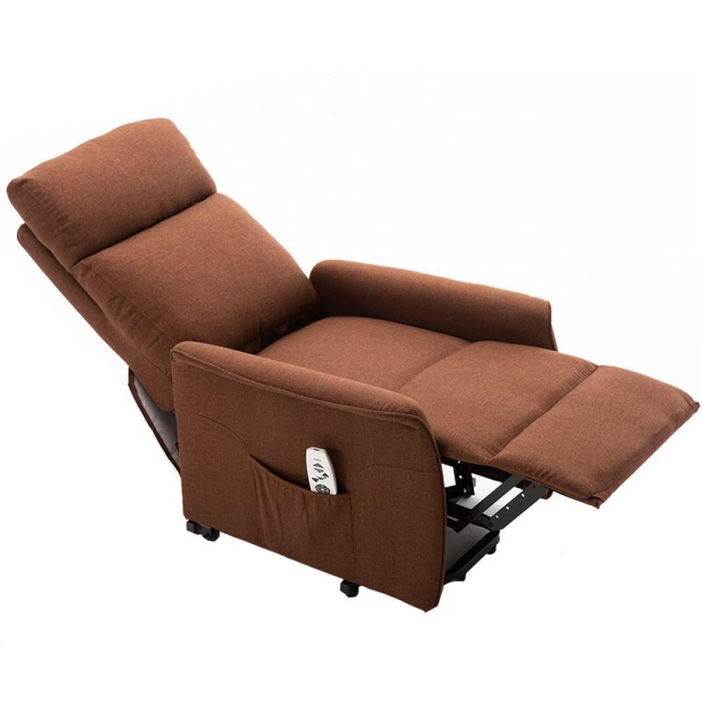 Boyel Living Abeale Brown Reclining Heated Power Lift Recliner Zero Gravity Full Body Massage Chair Er001 Br The Home Depot
