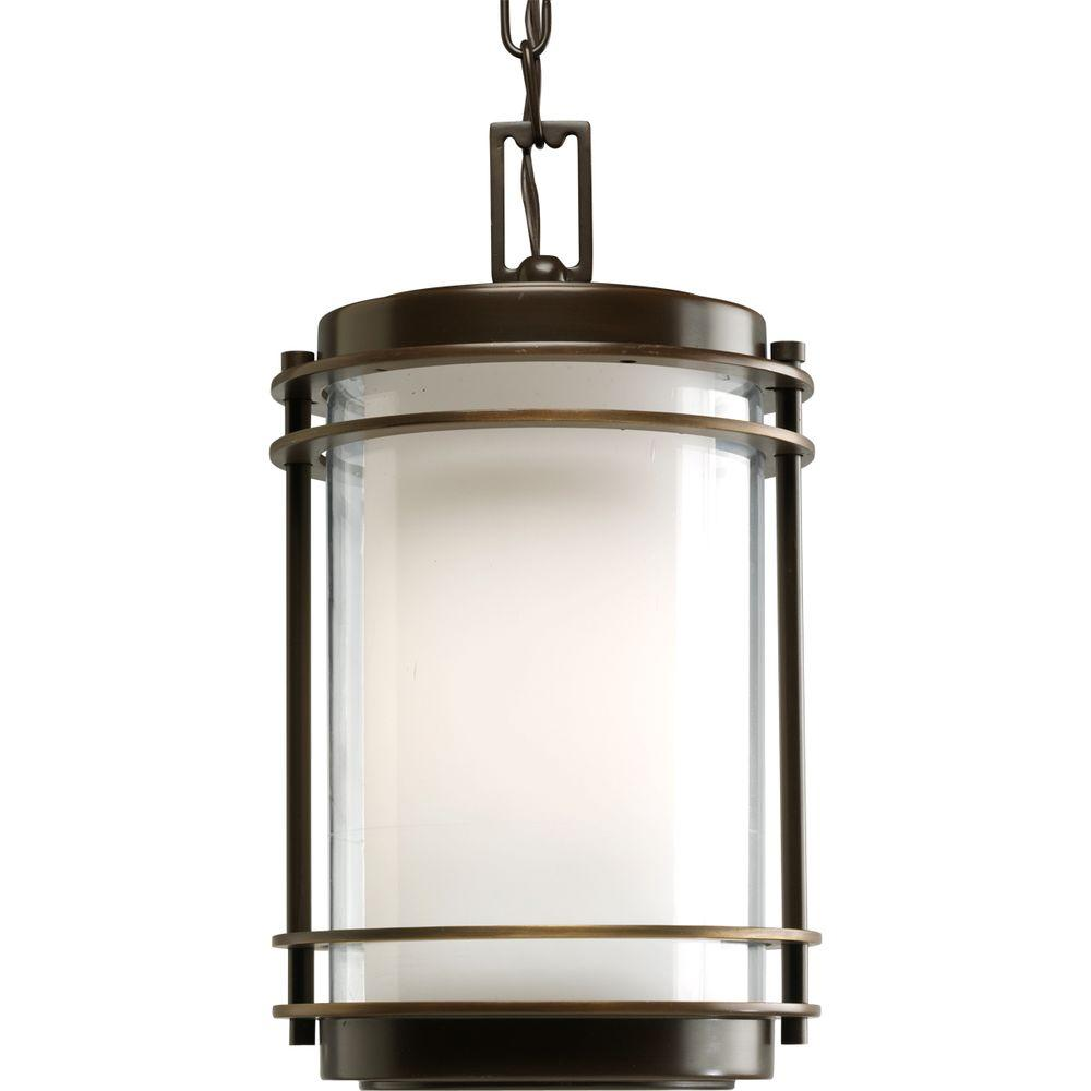 Progress Lighting Penfield Collection Oil-Rubbed Outdoor Hanging Bronze Lantern