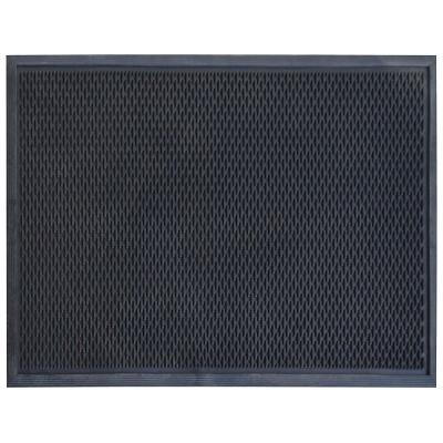 36 in. x 60 in. Slotted Scraper Industrial Anti-Fatigue Home Restaurant Bar Commercial Rubber Floor Mat