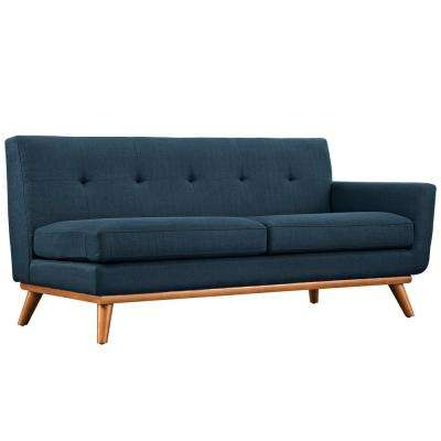 Engage Azure Right-Arm Upholstered Fabric Loveseat