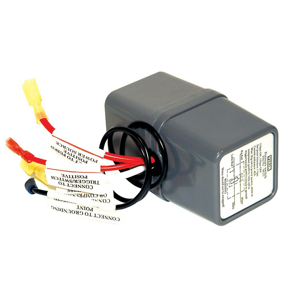 12-volt 110/145 psi pressure switch with relay