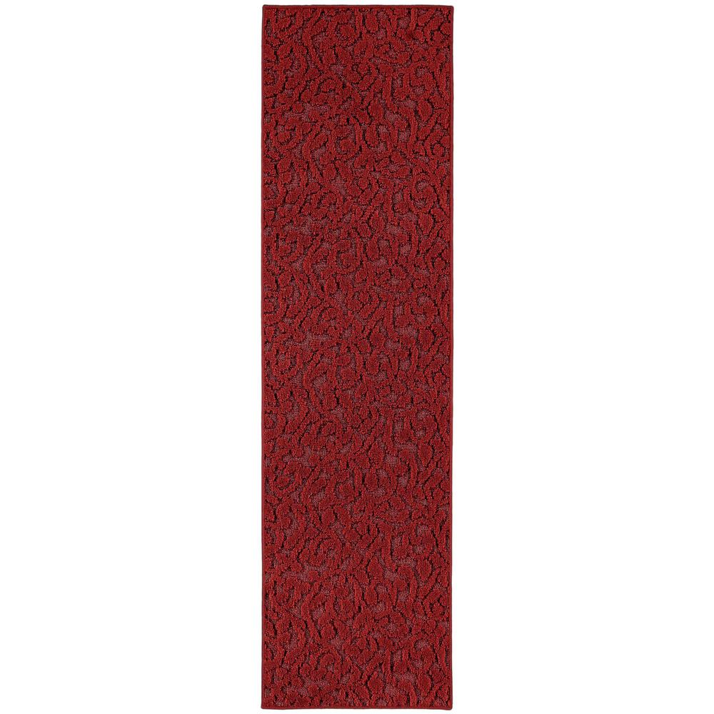 Ivy 3 Ft. x 12 Ft. Area Rug Runner Chili Red