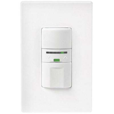 Motion-Activated Vacancy Dimmer Wall Switch with Color Change Kit, White/Almond/Ivory