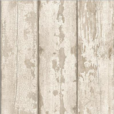 White Washed Wood Paper Strippable Wallpaper (Covers 57 sq. ft.)