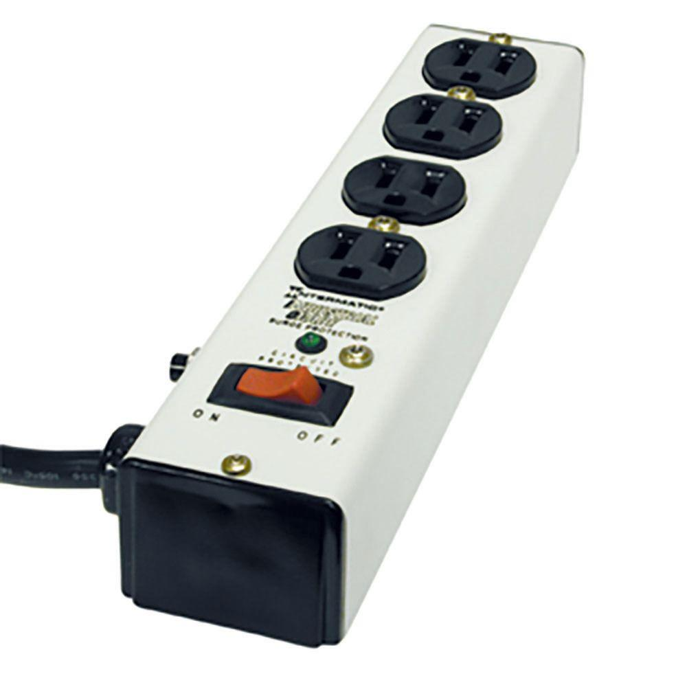 6 ft. 4-Outlet Surge Strip Computer Grade with Lighted On/Off Switch,