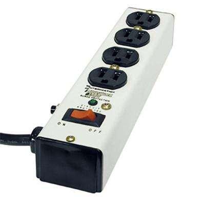 6 ft. 4-Outlet Surge Strip Computer Grade with Lighted On/Off Switch, White