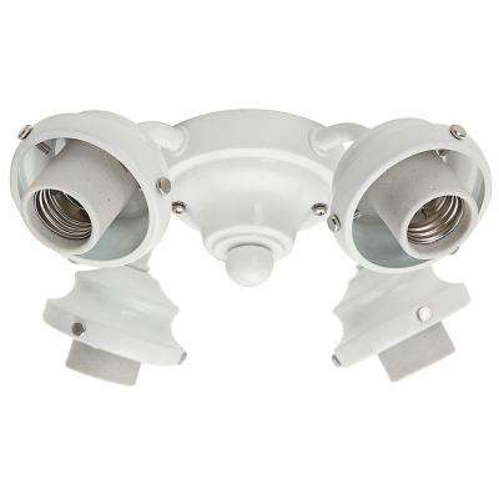 4-Light White 2.25 in. Ceiling Fan Fitter