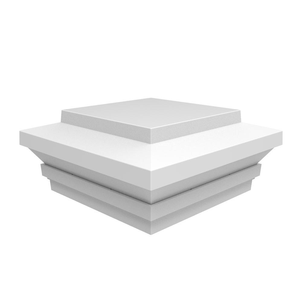 Transform 5 ft. x 5 in. Zenith Post Cap in Satin White