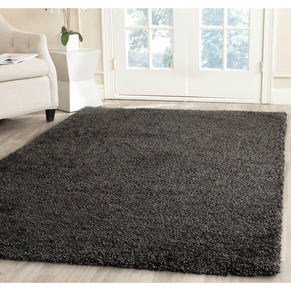 Safavieh Milan Shag Dark Gray 5 Ft 1 In X 8 Ft Area Rug