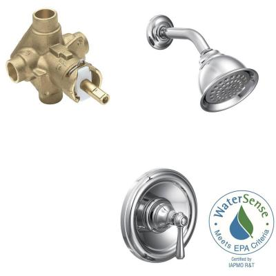 Kingsley Single-Handle 1-Spray Posi-Temp Eco-Performance Shower Faucet Trim Kit in Chrome (Valve Included)