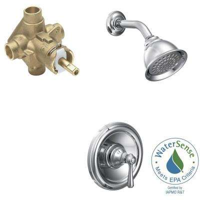 Kingsley Single-Handle 1-Spray PosiTemp Eco-Performance Shower Faucet Trim Kit with Valve in Chrome (Valve Included)