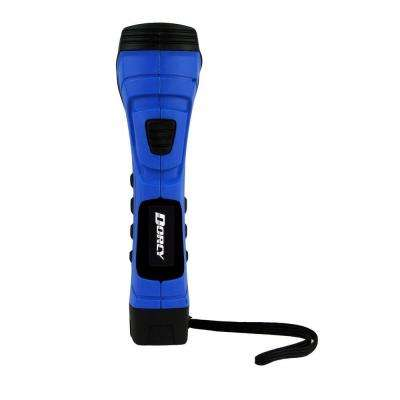 CyberLight Weather Resistant LED Flashlight with Nylon Lanyard and True Spot Reflector, Blue