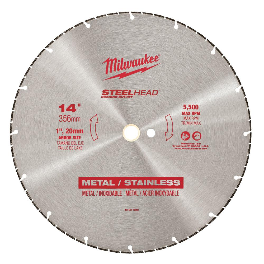 Milwaukee 14 In Steelhead Diamond Cut Off Blade 49 93