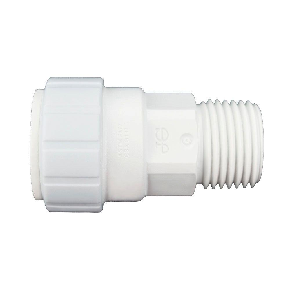 1/2 in. x 1/2 in. Plastic Push-to-Connect Male Connector Contractor Pack