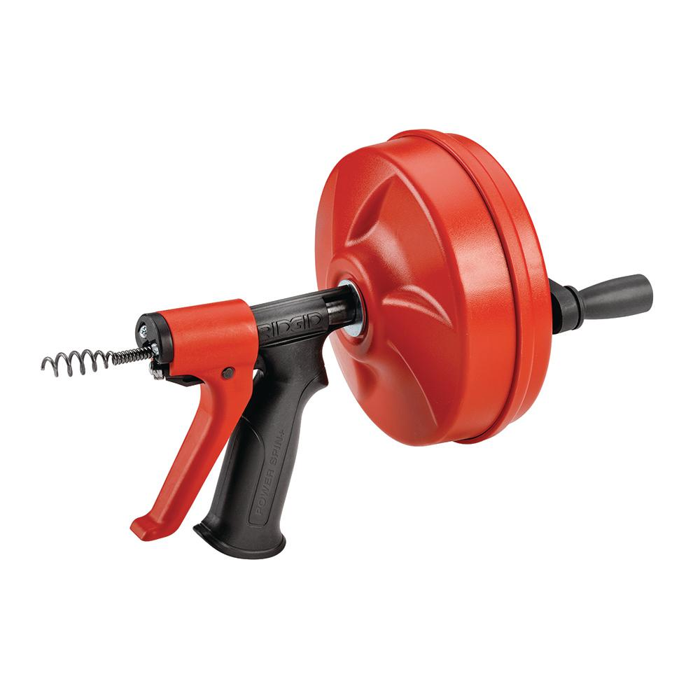 Ridgid Plumbing Snakes Augers Drain Openers The Home Depot House Wiring Tools Powerspin Plus