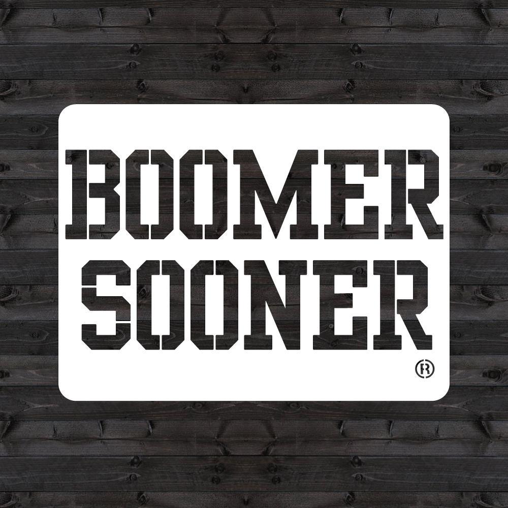 """OU """"BOOMER SOONER"""" Mini Stencil"""