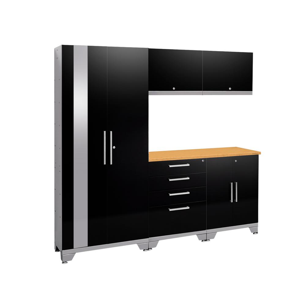 This Review Is From:Performance 2.0 72 In. H X 78 In. W X 18 In. D Steel  Garage Cabinet Set (6 Piece) In Black With Bamboo Top