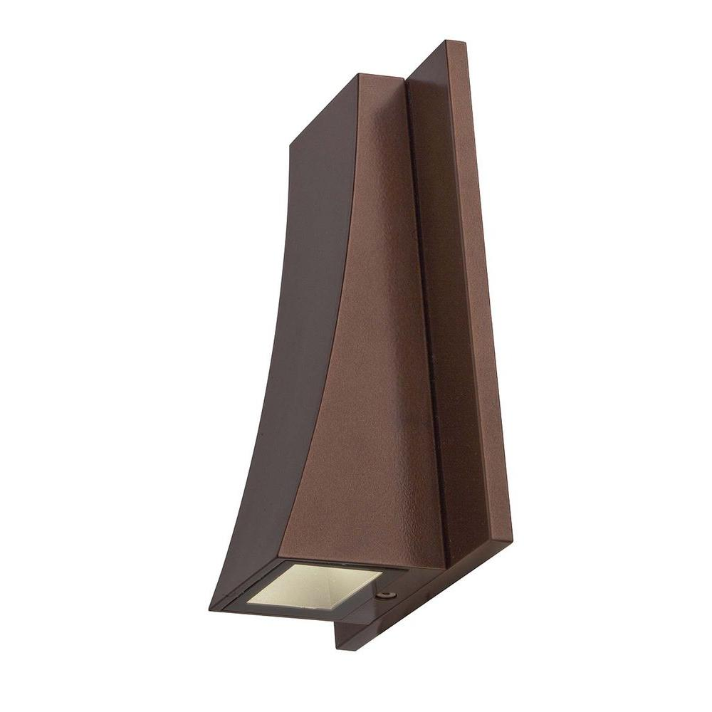 Access Lighting 1-Light LED Wall Sconce Bronze Finish  Clear Glass-DISCONTINUED