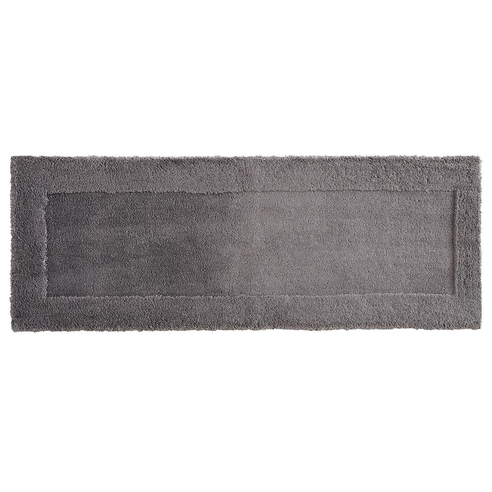 Mohawk Home Dynasty 24 in. x 60 in. Micro Denier Polyester Runner Bath Rug in Pewter