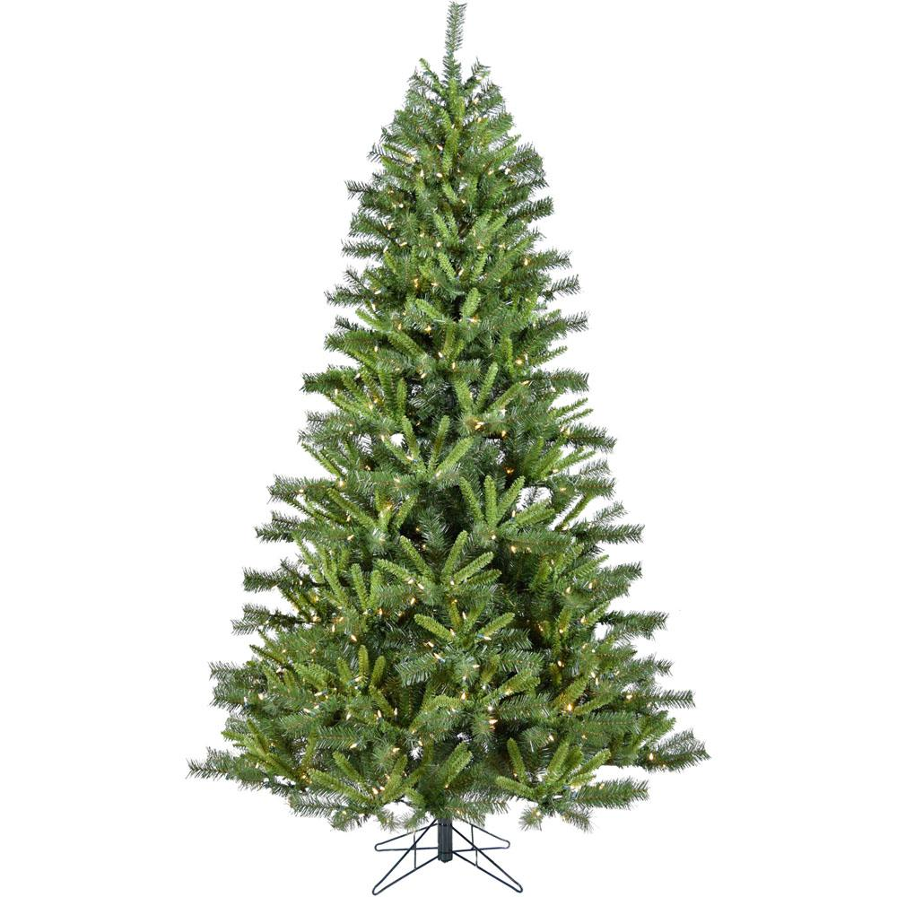 7.5 ft. Norway Pine Artificial Christmas Tree with Clear LED String